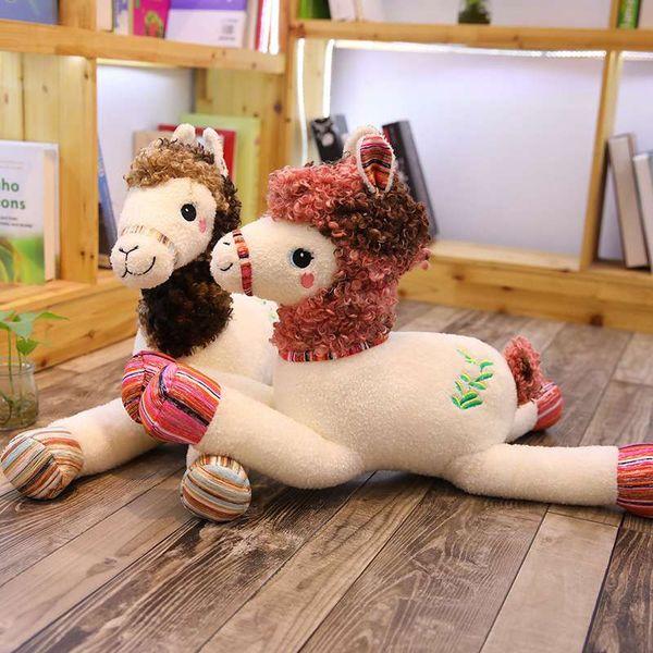 1pc 55/80cm 3 Patterns Real life colored Pony figurine Plush stuffed Horse dolls Felt smooth Sofa cushions Baby birthday present