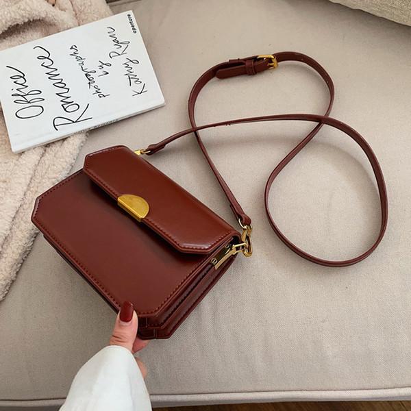 Ombro Moda Lady Womens menina Girlish Student Bag Cruz Bolsa Corpo Nova Tendência Saddle Bag Vintage 3 cores Estilo Simples B103071Z