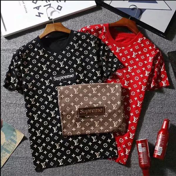 Mens Designer T Shirts Noir marron Rouge Mens Fashion Designer T Shirts Haut à manches courtes S-XXL Coton de haute qualité