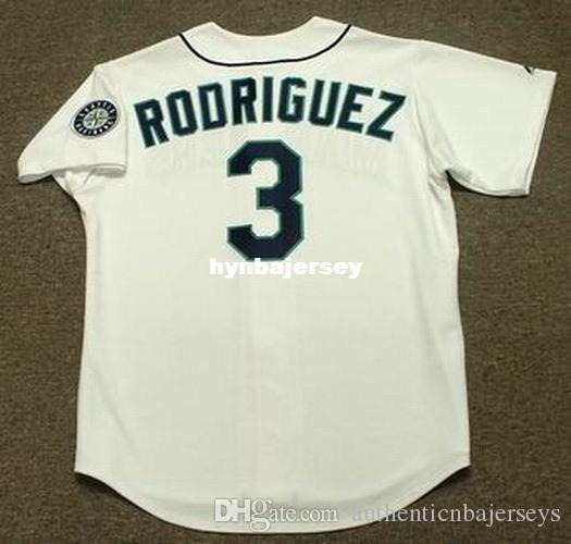 Cheap Custom ALEX RODRIGUEZ Seattle Stitched 1997 Majestic Vintage Home Baseball Jersey Retro Mens Jerseys Running