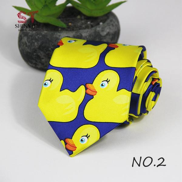 Профессиональный галстук ручной работы Желтая резиновая утка из горячего телешоу Как я встретил вашу маму 1PC 8CM Ширина настраиваемый Ducky