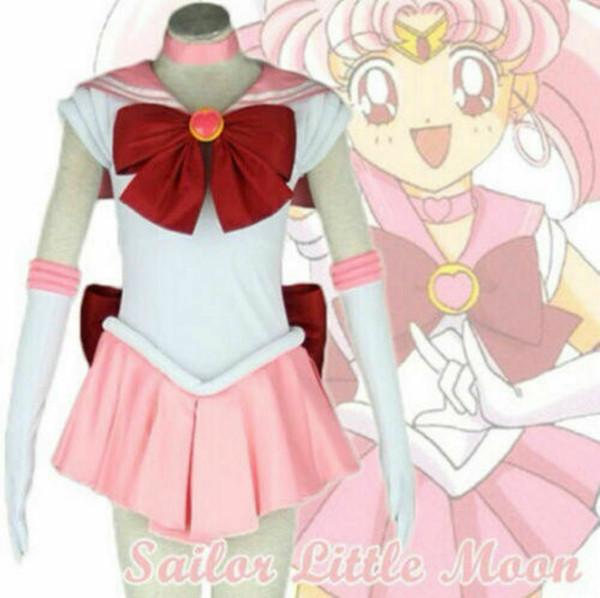 Sailor Moon Sailor Chibi Usa Pink Uniform Dress Cosplay Costume Custom Made