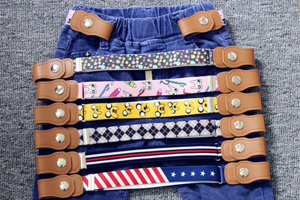 2019 Crianças cintos elásticos fivela suspensórios de estiramento para crianças crianças ajustáveis criança menino e menina cintos para calças jeans