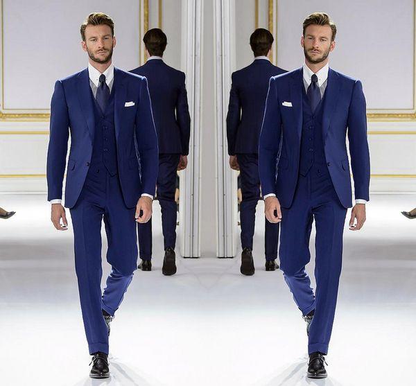Großhandel Neue Populäre Blau Bester Mann Bräutigam Hochzeits Kleid Männer Anzüge, Ausgezeichnete Männer Business Activity Anzug Partei Abschlussball