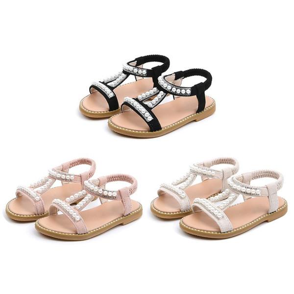 Children\'s Shoes Summer Kids Sandal Shoes Non-slip Girl Sandals Baby Flat Heels Beach Design Single Princess
