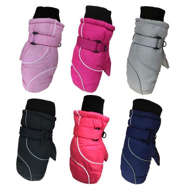 best selling Thickened Kids Winter Warm Ski Gloves Waterproof Outdoor Snow Sports Snowboard Skiing Gloves Mittens For Children