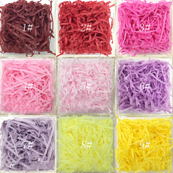 20g/bag Shredded Crinkle Paper Paper Confetti DIY Dry Straw Gifts Box Filling Material Wedding/Birthday gifts box Decor