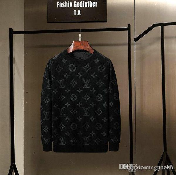 19SS Frühling und Herbst Marke Luxuxentwurf Pullover Stricken Pullover Beste Qualität Navy lange Ärmel italienische Hoodies Stepptanz M-3XL GUOZH7