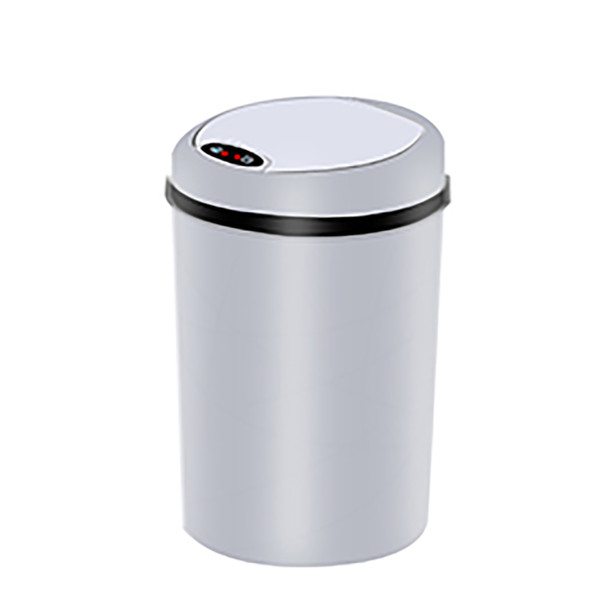 Small Automatic Trash Can Touchless Intelligent Induction Garbage Bin With Inner Bucket Contactless Circulator Quiet Lid Close Can