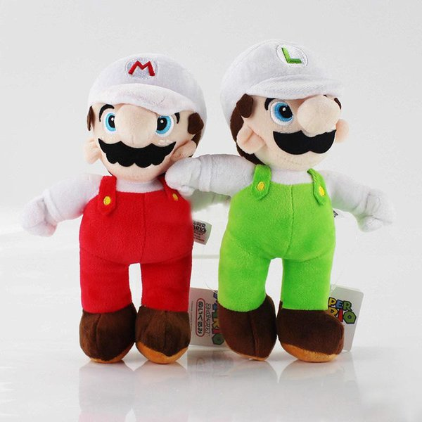 """Hot Sale 9"""" 23cm Mario & Luigi Super Mario Bros Plush Stuffed Doll Toy For Kids Best Holiday Gifts Wholesale"""