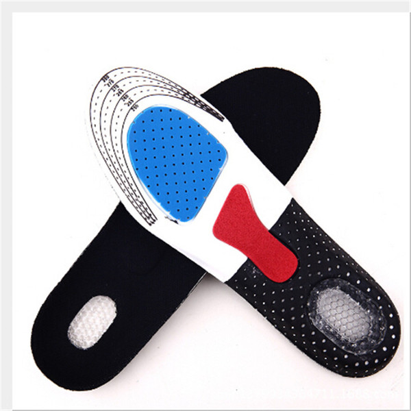 1Pair Fashion Gel Insole Orthotic Sport Insert Shoe Pad Arch Support Heel Cushion Running Breathable Women Men New