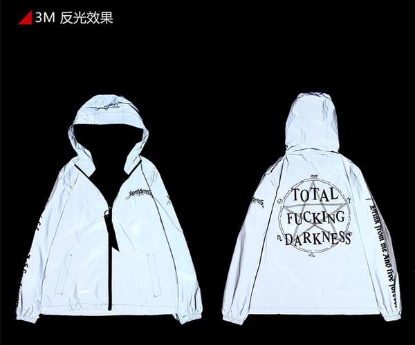 Vetements Uomo giacca casual giacca casual hip-hop 3M coppie giacca sportiva giacca impermeabile con cappuccio giacca a vento cappotto esterno