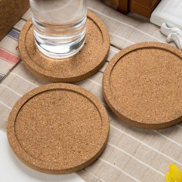 Classic Round Plain Cork Coasters Drink Wine Mats Cork Mat Drink Juice Pad for Wedding Party Gift Favor ZA5627