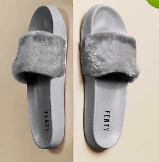Pantofole Leadcat Fenty Rihanna in ecopelliccia Donna Ragazza Sandali Scritte moda Nero Rosa Rosso Grigio Blu Designer Slides Alta qualità a33