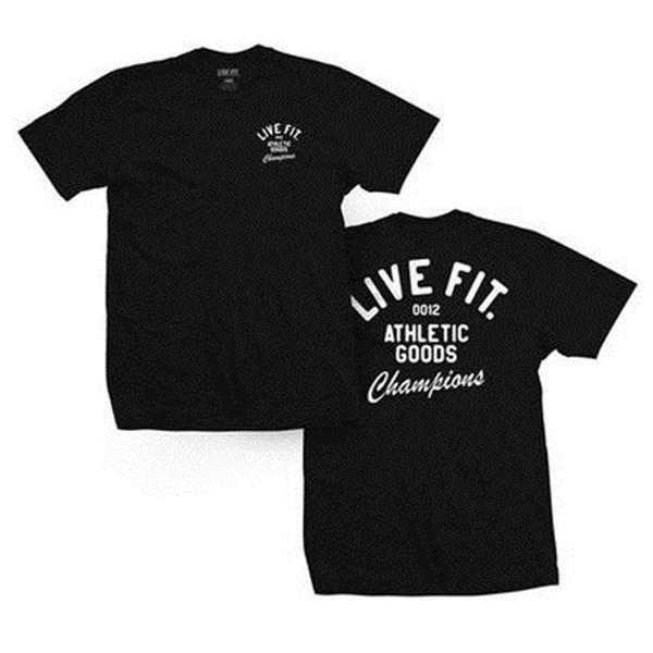 LIVEFIT Kas Kardeşler Tasarımcı erkek Yaz Spor Koşu T-shirt Fitness Spor Kısa kollu Eğitim Suit Solunum