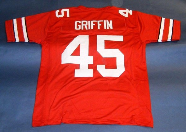 Cheap retro ARCHIE GRIFFIN 45 CUSTOM OHIO STATE BUCKEYES JERSEY OSU HEISMAN BW College red Men Stitching Size S-5XL Football j NCAA