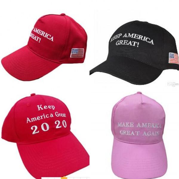 Donald John Trump Designer Cappelli Lettera Keep America Great Again 2020 Snapback Cappellino in cotone protezione solare per uomo donna 9 6ds2 BB