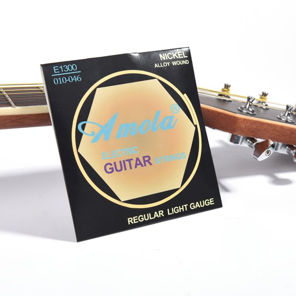 E1300 Electric Guitar Strings set 010-046 Bright Tone Round Wound Ulra Thin Coating Regular Light Gauge NICKEL Alloy