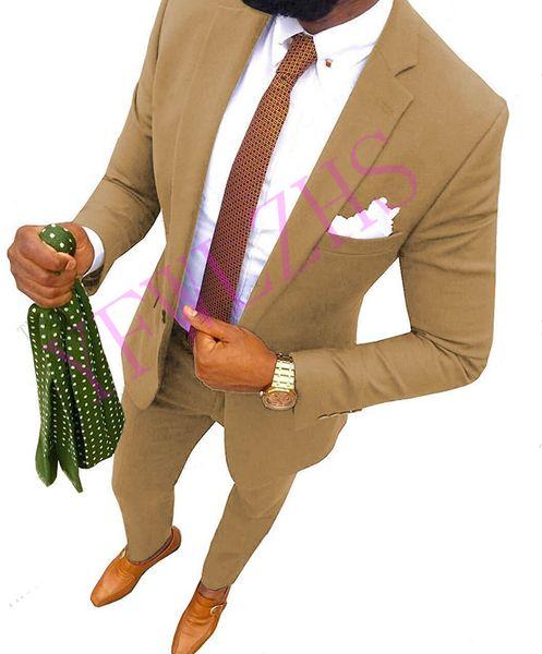 Apuesto un botón padrinos de muesca solapa esmoquin novio hombres Trajes de boda / de Baile / Cena mejor hombre Blazer B139 (+ Tie Jacket + Pants)