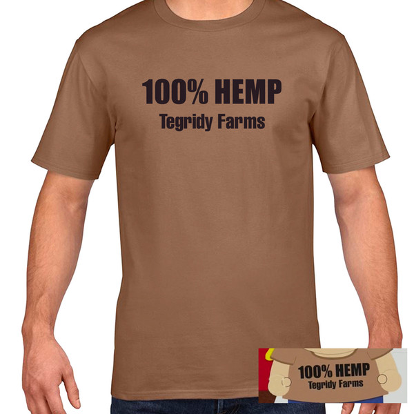 Tegridy Farms 100% Hemp T-Shirt - Randy Marsh Kyle South Park TV Comedy Funny Funny free shipping Unisex Casual top