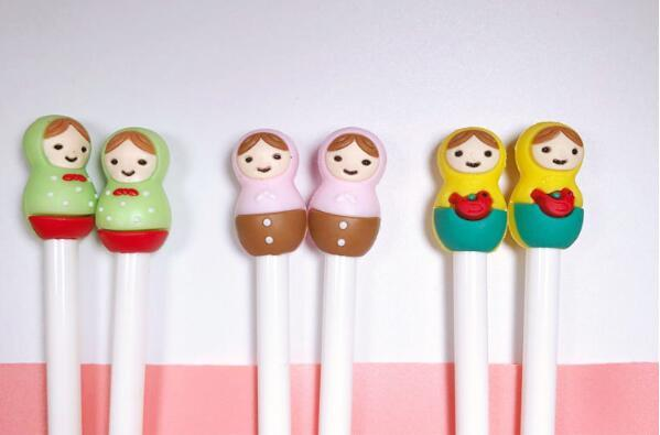 2019 Hot sale Coloured Doll Girl Neutral Pen 0.38mm black Needle tube neutral pen Signature Pen School Office Supply 50pcs/lot