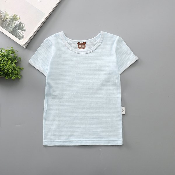 bamboo short sleeve blue