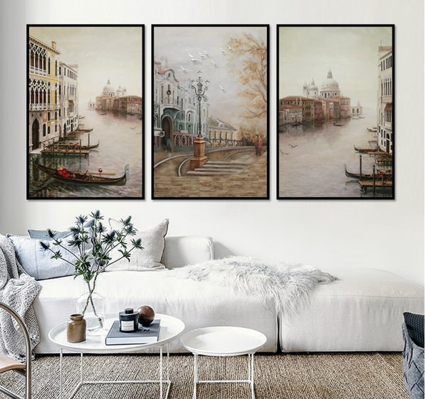 wall art decor for living room.htm 2019 water city landscape canvas paintings modular pictures  water city landscape canvas paintings