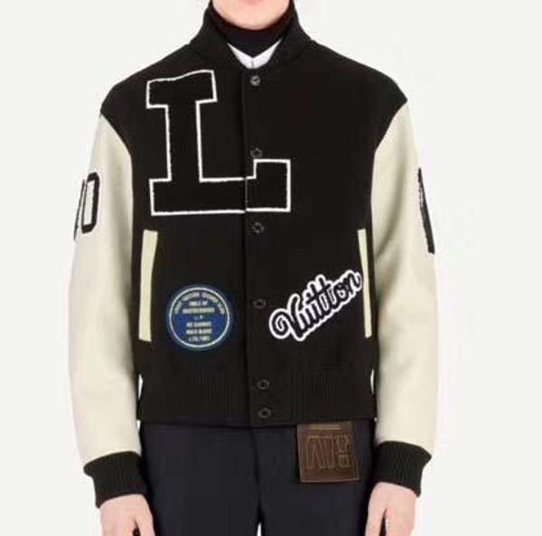 Men Baseball Jersey Bomber Jacket Jacket Painel das mulheres bordadas Letter Jacket Wool Leather Sleeve Estudante adolescente Marca tops2019 New QQ6