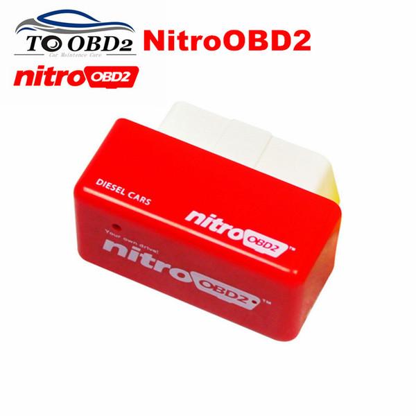 Alto rendimiento OBD2 ECU Chip Tuning NitroOBD2 Color rojo Coches diesel Aumentar potencia Motor Nitro OBD2 Diesel ENVÍO GRATIS