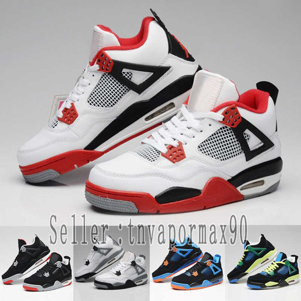 Designer Tattoo 4 Singles Day 4s Mens women Raptors Basketball Shoes White Cement grey Black Red 4 Pale Citron Fashion Sneakers Sports Shoes