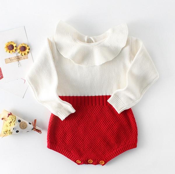 Bebek Kız Giyim Örme Bebek Kız Tulumlar Uzun Kollu Bebek Butik Bebek Giyim 3 INS DHW4161 3adet Tasarımları Giyim Tırmanma