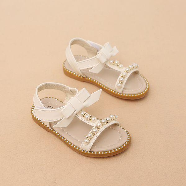 Neuer Sommer scherzt bequeme Strand-Schuh-Baby-Prinzessin Pearl Beading Sandals Beautiful Fashion Shoes Girls
