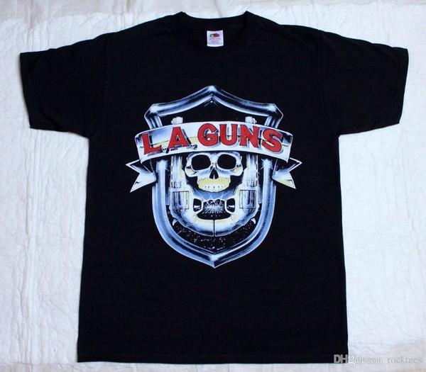 Crazy T Shirts Crew Neck Comfort soft La Guns L.A.Guns No Mercy Tour 1988 Metal Rock T-Shirt (S 3XL) Short Sleeve Mens Shirt