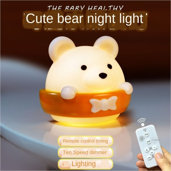 top popular Charging Night remote control bedroom bedside sleep baby nursing eye protection night light energy saving wall light 2021