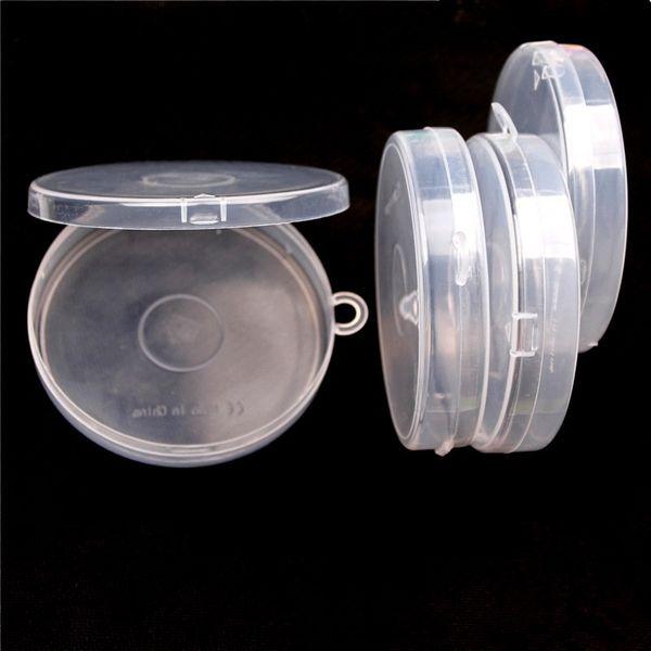 Küçük plastik kutu yuvarlak şeffaf PP Depolama Koleksiyonları Konteyner Kutusu Kasa El eşyalar için Eşyalar plastik yuvarlak kutu