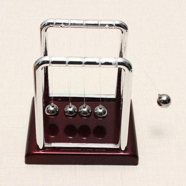 ¡Al por mayor-más nuevo !! Venta superior Desarrollo de diversión temprana Escritorio educativo Regalo de juguete Newtons Cradle Steel Balance Ball Physics Science Pendulum