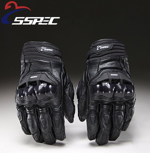 2018 Motorcycle Gloves men women moto leather Carbon cycling winter gloves motorbike motorcross ATV motor Free Shipping