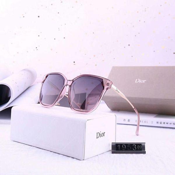 Occhiali da sole firmati Occhiali da sole di lusso Vetro di design per occhiali da donna Adumbral UV400 Modello 1953 5 colori di alta qualità con scatola
