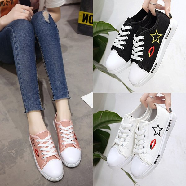 Lovely2019 Color Solid New Circle Head Shape Symbol Shoe Girl Small White Shoes Southeast