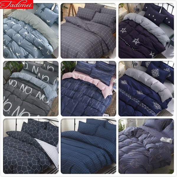 3/4 pcs Bedding Set Adult Kids Child Soft Cotton Bed Linen Single Full Double Queen King Big Size Duvet Cover Bedspreads 200x230