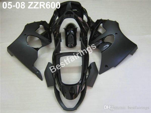 Injection molding fairing kit for Kawasaki ZZR600 05 06 07 08 matte black fairings set ZZR 600 2005-2008 ZV06