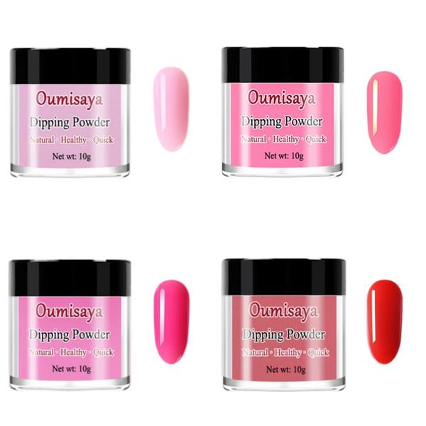 10gx4pcs set Gel Color Oumisaya Nail Dip Powder System (No need of UV/LED Light Lamp Cure)