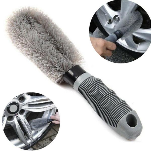 Auto Car Wheel Brush Washing Car Tire Rim Cleaning Handle Brush Tool for Car Truck Motorcycle Bicycle Brush Washing Tool LJJK1149