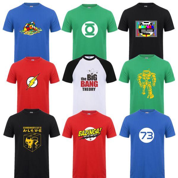Moda Yeni Sheldon Cooper Penny Erkekler T Gömlek Yaz Rahat Kısa kollu Big Bang Teorisi T-shirt Pamuk Cooper Logosu Erkekler T-shirt Tops