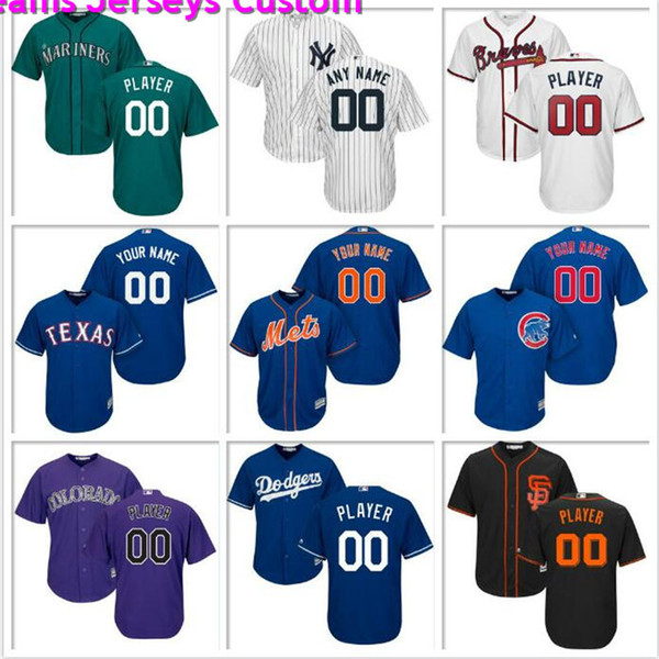 Custom Mens Baseball Jersey Philadelphia Phillies Seattle Mariners Texas Rangers Los Angeles Angels Astros Official cool base jerseys new