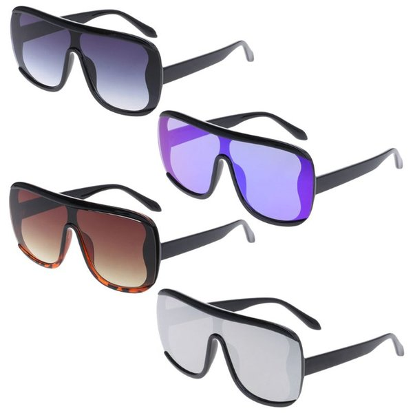 Large Frame Sunglasses Vintage Flat Top Unisex Outdoor Driving Beach Eyewear UV400 Personality Men Decorative Square Lens