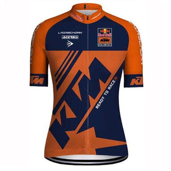 Triathlon KTM Team Cycling Clothing Short Sleeves Cycling Jersey Bike Mountain Racing clothes Mtb Maillot Ropa Ciclismo Hombre Bike shirt