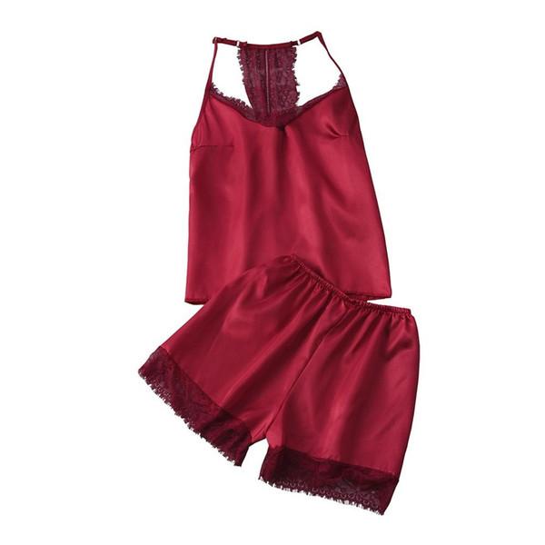 Verano sexy para mujeres mancha de encaje lencería de seda camisón fiesta de dormir hogar ect ropa interior de mujer pijamas camisola ropa de dormir