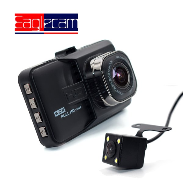 Full HD 1080P Mini Araba DVR 3 inç ön + arka Kamera Kamera Çift Lens Dash Cam İki kamera Video Registrator Gece Görüş