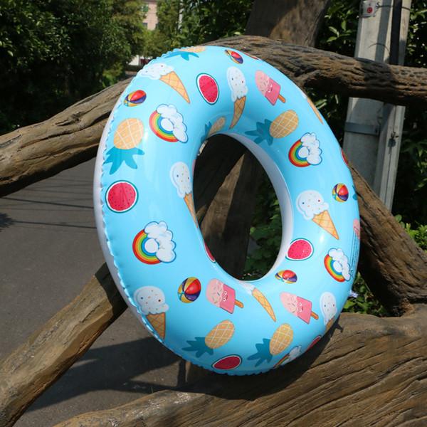 Nuovo stile Popsicle Stampato Nuoto tubo Environmentally friendly Anello di nuotata del PVC Torta di acqua gonfiabile di giocattoli acquatici Row